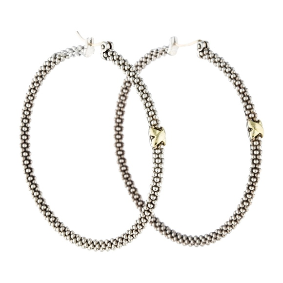 f53570a73 LAGOS Jewelry | Caviar Bead X Hoop Earrings | Poshmark